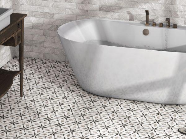 Marmo Marble Effect Hexagon Floor Tiles