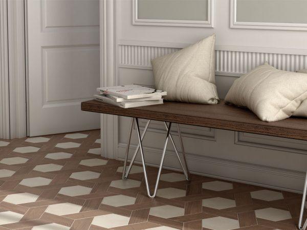 Wood Effect Hexagon Floor Tiles