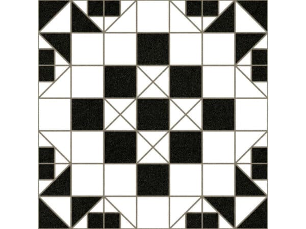 black and white victorian floor tile