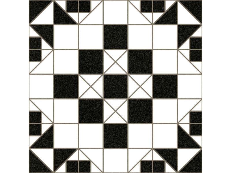 black and white victorian floor tile