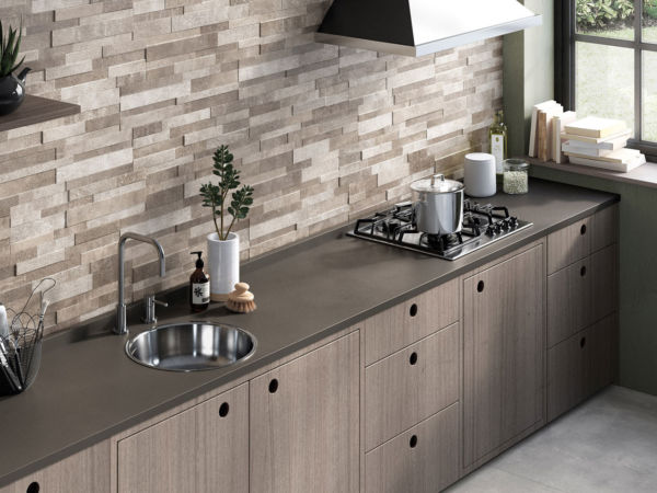 3D Ridge Kitchen Wall Tiles