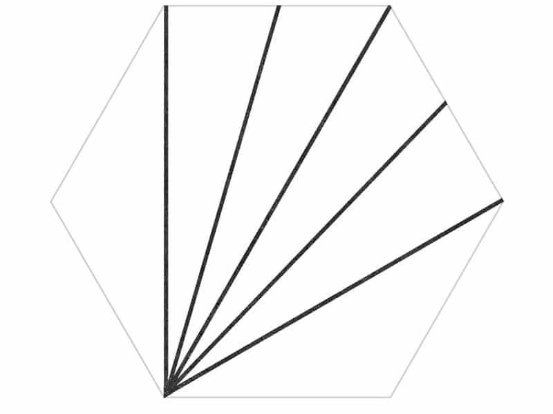 Axis hexagon pattern tile