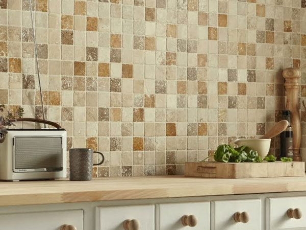 Travertine Natural Stone Mosaics Tiles