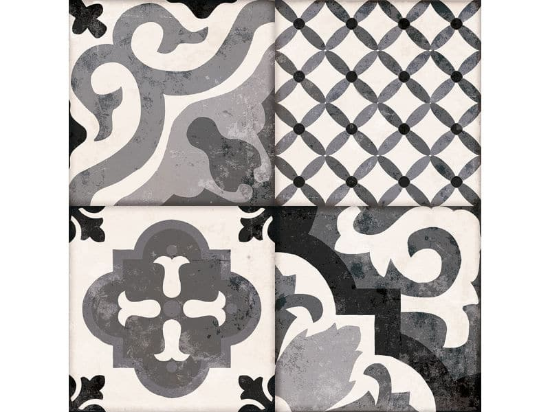 feature patterned floor tiles